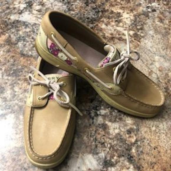 Women's Floral Sperry Deck Shoe
